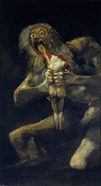 Saturno Devorando a su Hijo by Francisco de Goya