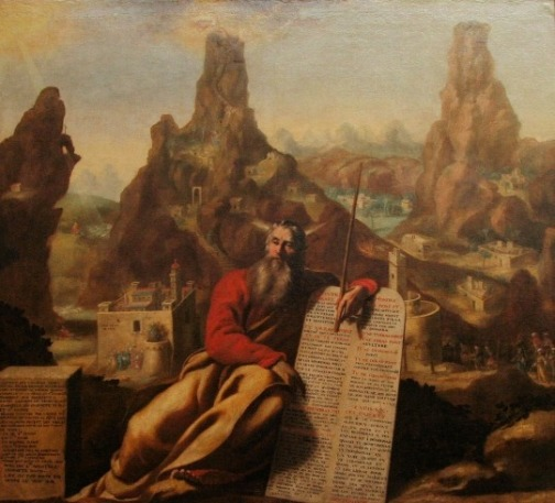 Moses at Mt. Sinai by Jacques de Letin
